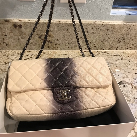 1d93281b339e10 CHANEL Bags | Sale Ombr Jumbo Single Flap Bag | Poshmark